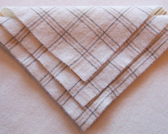 Felted Wool, 10in.x 10in. - Eggshell Windowpane  - for Applique, Penny Rugs and Sewing Projects / W1383