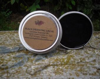 Black Drawing Salve - Calendula, Aloe Vera, Plantain, Comfrey