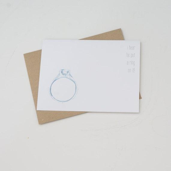 Engagement Card, Congratulations Card, Wedding Shower Card, Funny Card, Funny Engagement Card
