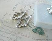 Assemblage Vintage -Baguette-Rhinestone-Earrings-Gorgeous-