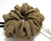 Silk Scrunchie in Dark Ash Blonde Lightweight and Gentle Hair Accessory