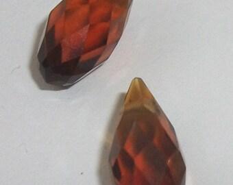 Celestial Crystal Pendants 12mm BRIOLETTE Pendants Brown 2 pieces per lot