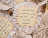 Lady Jane. Twelve Jane Austen Quote Script and Ruffle Toppers