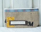 Upcycled MiNI MaGGIE zippered pouch. Coin purse. Cell phone pouch. Makeup pouch.