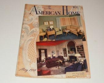 The American Home Magazine May 1938 - Retro Art Scrapbooking Paper Ephemera Vintage Decorating