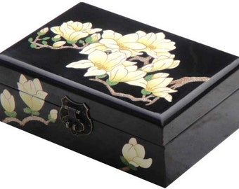 Chinese Style Lacquer Wooden jewelry box