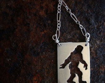 Sterling silver Bigfoot necklace