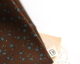 Petit Floral on Cotton in Brown, U7278
