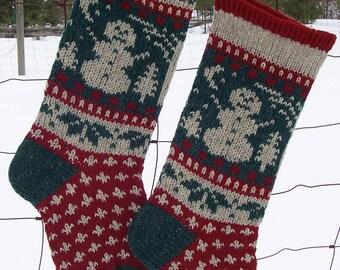 Christmas Stocking Knitting Pattern Download : HOLLY Stocking Knitting Pattern Downloadable Christmas