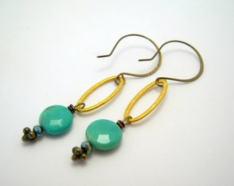 SALE - clearance - green chrysoprase earrings