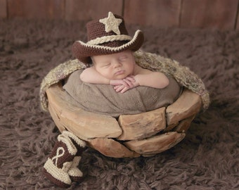 Cowboy Baby Outfit - Baby Cowboy Outfit - Photo Prop - Baby Boy Photo Outfit - Cowboy Hat And Boots - Baby Boy Clothes - Baby Girl Clothes
