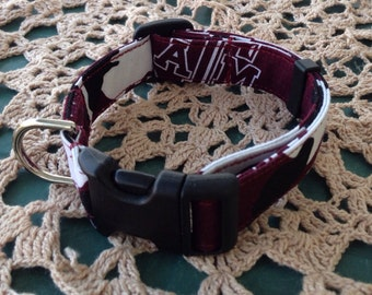 Texas A &M Adjustable Dog Collar