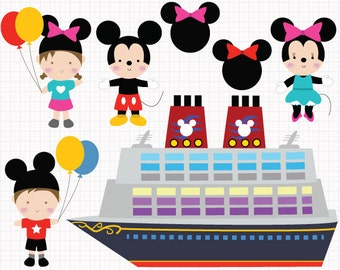Disney Cruise Digital CLIP ARTS personal and commercial use for invitations, cupcake toppers, birthday cards, party supplies