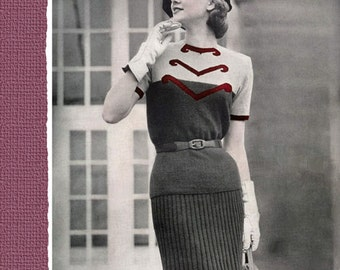 Fleisher's (90) c.1951 - Fashionable Vintage Hand Knitting Patterns for Women