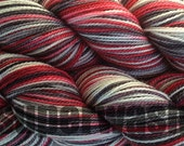 Fingering Weight Hand Dyed Sock Yarn in Lucky Draw Superwash Hand Painted