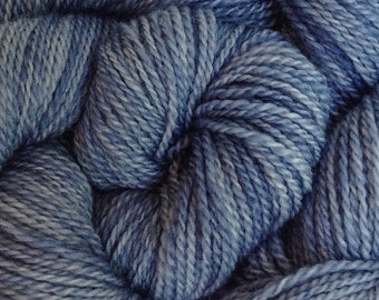 Merino Wool Yarn Lace Weight in Storm Gray Hand Painted