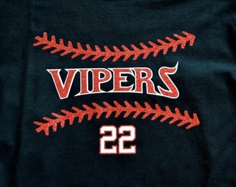 Baseball Glitter Shirt