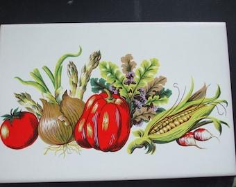 Vegetables Harvest Porcelain Ceramic Tile Trivet