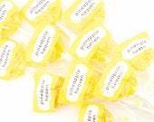 Pineapple Banana Lollipops - 12 sunshine yellow lollipops - tropical hard candy