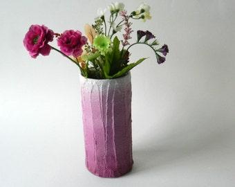 Mulberry Pink Vase / ombre pink home decor /  handcrafted vase / pink flower vase / ombre housewares