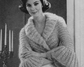 1950's French Knit Shrug Pattern Mid Century 1950's Instant Digital Download