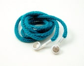 SALE Tangle-Free Earbud Cozy, Bright Turquoise, Authentic Apple Earbuds