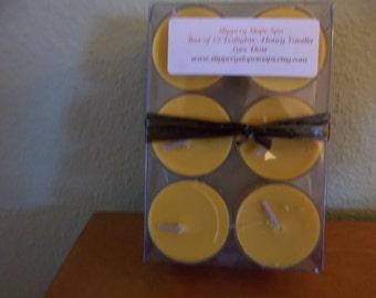 Box of 12 Tealights - Honey Vanilla Love Dust