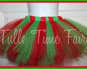 Christmas Red and green tutu 12m 18m 2t 3t 4t 5t