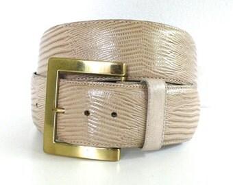 Vintage Iguana Grain Steerhide Belt // USA