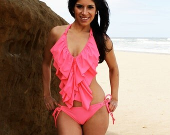 Long ruffle bikini MORE COLORS