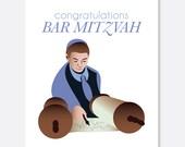 Congratulations Bar Mitzvah Card, Jewish Card, Celebration Card, Jewish Bar Mitzvah