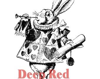 Alice In Wonderland White Rabbit Rubber Stamp (Cling Stamp) Rabbit Stamp • Alice In Wonderland Rabbit • White Rabbit Stamp (4X502016)