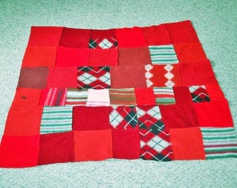 Christmas Red Felted blanket