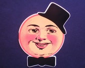 MAN in the MOON CARD w/ Top Hat and Bow Tie