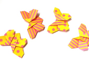 "Bookmarks Origami ""Butterflies"" Set of 4 Yellow"