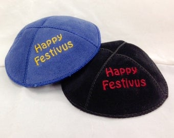 Happy Festivus Embroidered Yarmulke Kippah