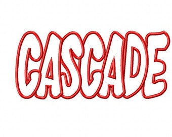 Cascade Embroidery Machine Applique Design 4248