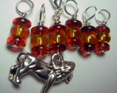 House Sock Stitch Markers Gryffindor - LC