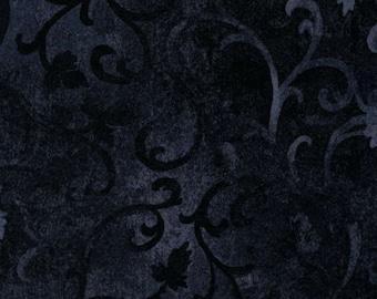Wilmington Prints Black Scroll Fabric 89025 900