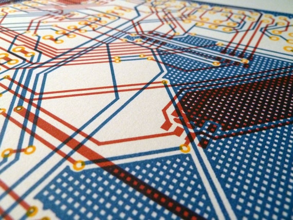 Circuit board screen print - Polarshield v1.6 PCB original small edition