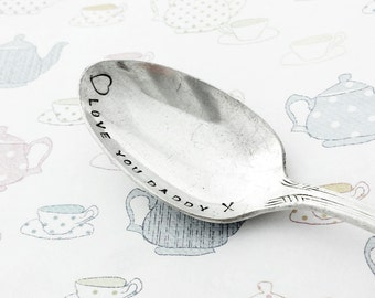 Hand Stamped Teaspoon for DADDY - Father's day - A beautiful unique gift from Goozeberry Hill