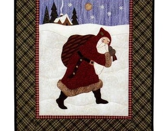 Olde Santa's Journey Christmas Country Appliques Quilt Pattern #18