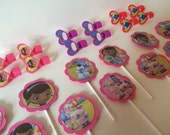 DOC MCSTUFFINS BIRTHDAY Party Cupcake Toppers and Ring Favors
