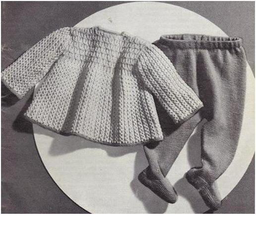 Baby Knitting Pattern Knit Babys Smock dress and