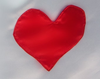 Red Heart Pocket For Alice in Wonderland  Costume --Pocket in red Satin for Adult and Children