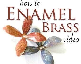 How to Enamel Brass Video, Enameling, Learn to Enamel, Thompson Enamel, Torch Fired Enameling, Enameling supplies, Enameling Videos, Brass