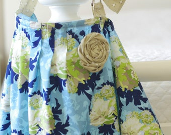 SALE-Designer Nursing Cover with Flower and Pleated Detail, One-size fits all (Vintage Verona)