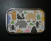 ZOO ANIMALS Altered Tin and Refrigerator Scrapbook