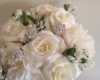 Beautiful Crystal Pick Jewelry for Bridal Bouquet!