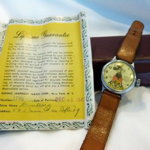 Rare First 1945 Mickey Mouse Wrist Watch Manufactured By